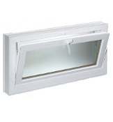 "W 30"" x H 18""  PVC Hopper / Tilt Window"