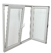 "W 60"" x H 48""  PVC Tilt and Turn Window"