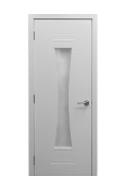 M 61 White Ash Laminate Modern Interior Door w/ Frosted Glass