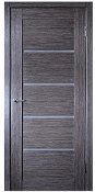 Venice Glass Grey Oak Finish Modern Interior Door