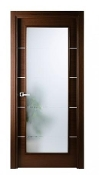 Mia Vetro Modern Interior Door Wenge Finish