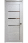Palermo Modern Interior Door White Ash Finish w/Frosted Glass