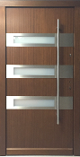 Model 029 Modern Prehung Wood Exterior Door w/Frosted Glass