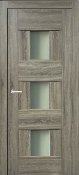 """Vetro Lux"" Transitional Interior Door Taupe Finish w/ Glass"