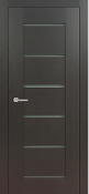 Delux Dark Wenge Modern Interior Door w/Frosted Glass