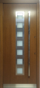 Model 036 Contemporary Walnut Finish Exterior Door w/Glass