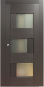 Dominika Lux Glass Contemporary Interior Door Wenge Finish