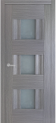 Vetro Lux w/Frosted Glass Modern Interior Door Grey Ash Finish