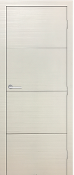 Madrid Satin White Modern Interior Door w/Aluminum Strip Design