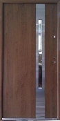 """Atlanta"" Steel Contemporary Front Entry Door With Glass"