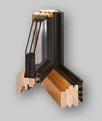Gemini Classic Wood/Aluminum Tilt and Turn Window
