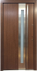 Model 027 Modern Prehung Wood Exterior Door w/Frosted Glass