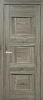 """Vetro"" Transitional Style Interior Door Taupe Finish"