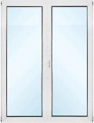 "French Patio Doors Prehung - W 48"" x H 80"""