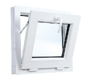 "W 24"" x H 18""  PVC Hopper / Tilt Window"