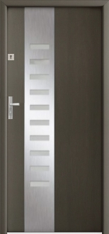 """Dallas"" Steel Modern Exterior Door With Glass"