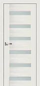 """Sorrento"" Pearl White Modern Interior Door w/ Frosted Glass"