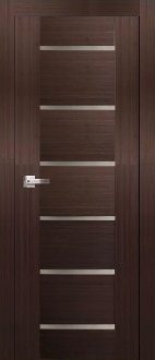 """Delux"" Espresso Modern Interior Door w/ Frosted Glass"