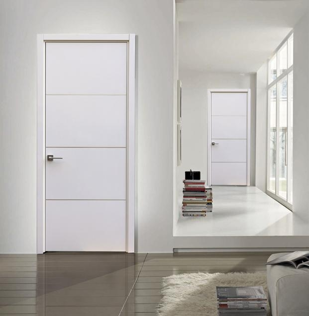 milan\  contemporary interior door white gloss laminate w aluminum strips\ milan\  modern interior door white laminate w aluminum strips & Contemporary Interior Doors | low budget interior design